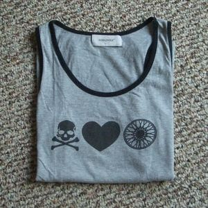 soulcycle Tops - Soulcycle gray racerback tank top graphic tee S